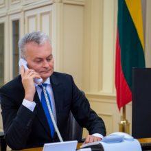 Lietuvos ir Ukrainos vadovai telefonu aptarė ir regiono saugumo situaciją