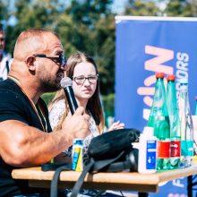 Muzikantas Ironvytas: labai smagu, kad sportininkai jaučia mano nuoširdumą