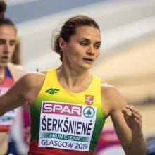 Lietuvos rekordą pagerinusi A. Šerkšnienė bėgs Europos čempionato finale