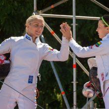 Lietuvių penkiakovininkių ketvertas Kinijoje pateko į finalą