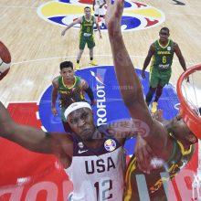 JAV rinktinė palaužė Braziliją ir žengė į ketvirtfinalį