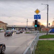 Pakeistos Kelių eismo taisyklės Kauno gatvėse kelia chaosą