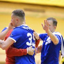 """""""Šviesos"""" rankininkai laimėjo pirmąsias EHF Iššūkio taurės rungtynes"""