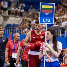 Boksininkas M. Valavičius Europos žaidynėse pralaimėjo pirmąją kovą