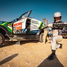 Sustabdytas 10-asis Dakaro ralio greičio ruožas, S. Jurgelėnas jaučia rankos skausmus