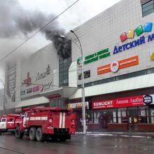 Atskleista daugiau detalių apie sudegusį Rusijos prekybos centrą