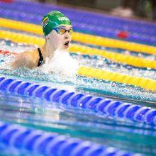 Šiaurės Europos šalių plaukimo čempionate K. Teterevkova pelnė du aukso medalius