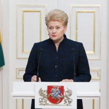 D. Grybauskaitė dalyvaus klimato kaitos konferencijoje Lenkijoje