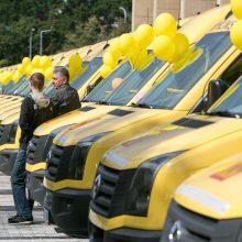 Mokykloms bus perduoti 36 nauji mikroautobusai