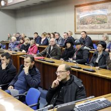 Į gatvių rekonstrukcijos projektų pristatymą susirinkę gyventojai valdininkus užvertė klausimais.