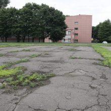 Progimnazijos stadione uostamiestyje – tarsi karo lauke