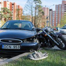 Autoįvykiuose dalyvavo motociklai