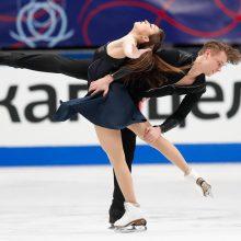 Ledo šokių pora S. Ambrulevičius ir A. Reed pasaulio čempionate užėmė 20-ąją vietą