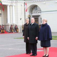 Prezidentė Monako princui: mus sieja tos pačios vertybės