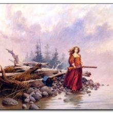 """Vieta: Margarita negyvenamoje saloje pagal piešinį iš E.Boyer knygos """"Išlikimo istorija""""."""
