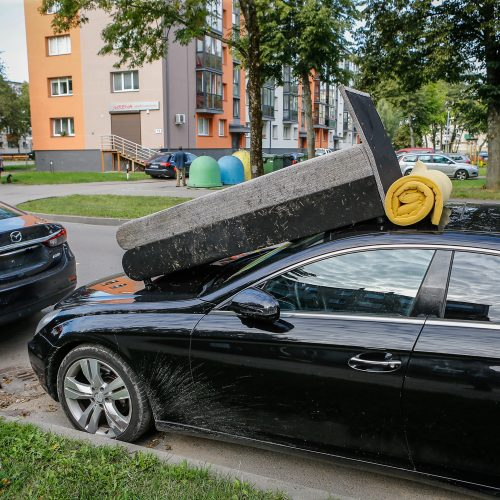 Sofa ant automobilio  © Vytauto Petriko nuotr.