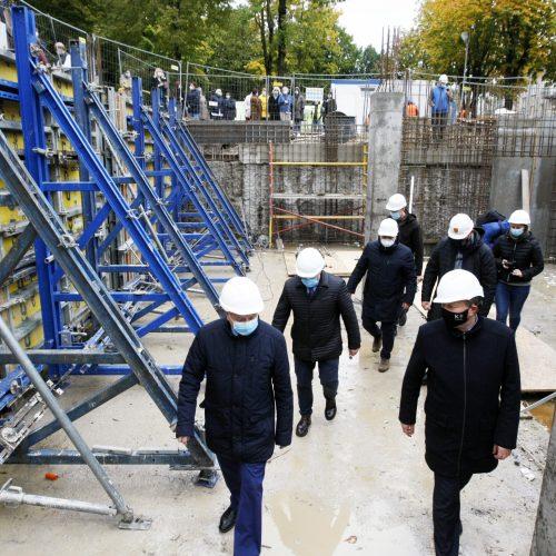 Startuoja Klaipėdos vaikų konsultacinės poliklinikos statybos  © Vytauto Liaudanskio nuotr.