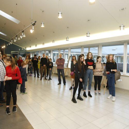 A.Brako dailės mokyklos mokinių paroda I.Simonaitytės bibliotekoje