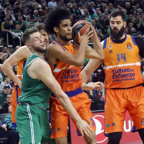 Eurolyga: Žalgiris - Valencia 82:86  © Laimučio Brundzos nuotr.