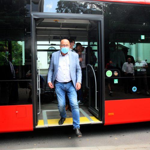 Naujovė Kauno viešajame transporte   © Laimučio Brundzos nuotr.