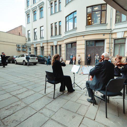 """Kaunas prisijungė prie akcijos """"Ačiū, Lietuva!""""  © Eitvydo Kinaičio nuotr."""