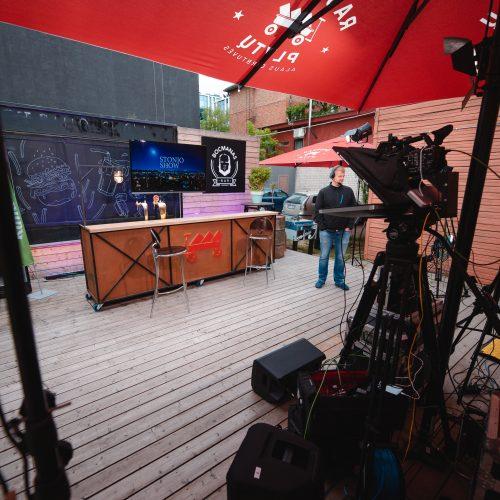 Stonio Šou | Bocmano skvere filmavimas