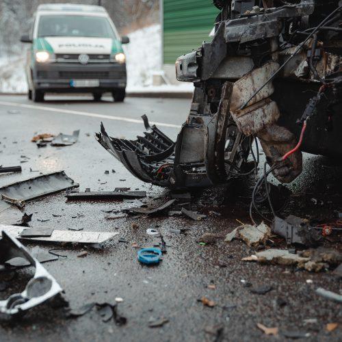 Prie Amalių pervažos - skaudi avarija
