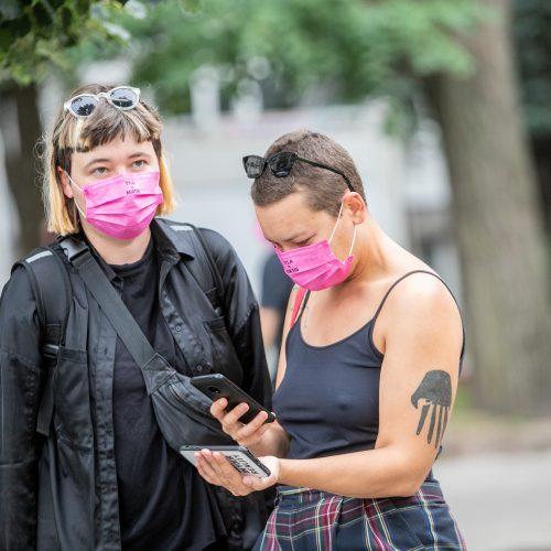 LGBT eisenos palaikymo akcija  © Justinos Lasauskaitės nuotr.