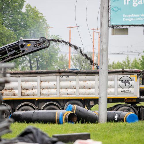 Prasidėjo Kauno pilies žiedinės sankryžos rekonstrukcija