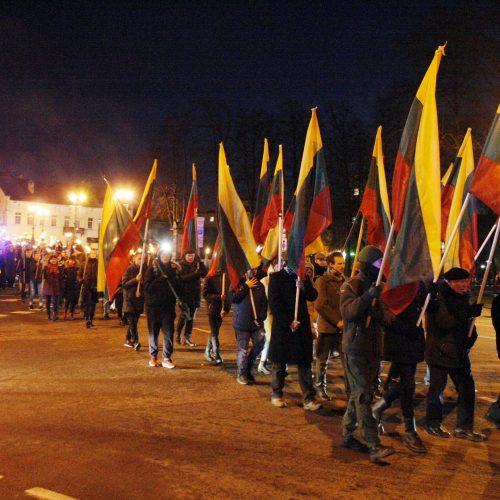 Eitynėmis su deglais paminėta Klaipėdos krašto diena