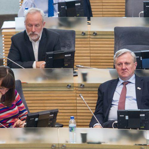 Premjeras atsakinėjo į opozicijos klausimus  © P. Peleckio / Fotobanko nuotr.