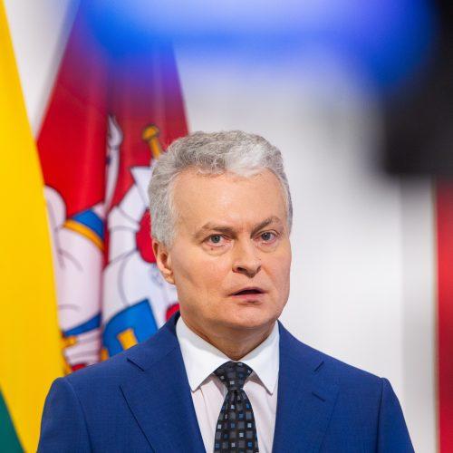 G. Nausėdos spaudos konferencija  © I. Gelūno / Fotobanko nuotr.