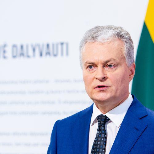 G. Nausėdos spaudos konferencija