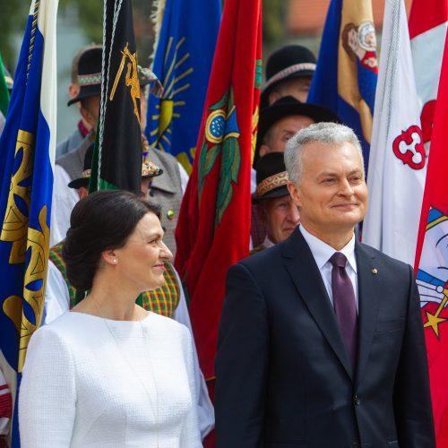 Miestų ir miestelių vėliavų pagerbimo ceremonija  © I. Gelūno / Fotobanko nuotr.