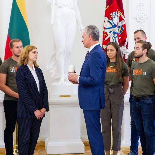 "G. Nausėda susitiko su projekto ""Misija Sibiras"" dalyviais  © P. Peleckio / Fotobanko nuotr."