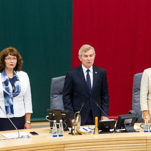Pirmasis Seimo rudens sesijos posėdis
