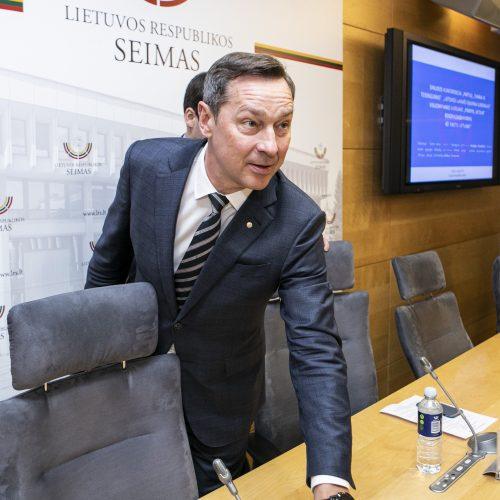 """Judėjimo """"Pirmyn, Lietuva"""" spaudos konferencija  © P. Peleckio / Fotobanko nuotr."""