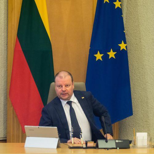 Vyriausybės posėdis dėl koronaviruso  © I. Gelūno / Fotobanko nuotr.