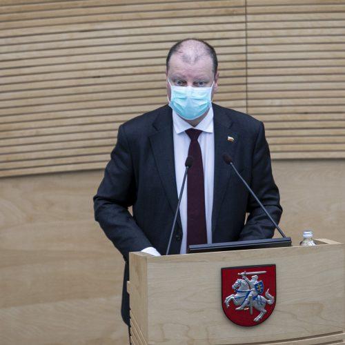 Premjeras pristatė Vyriausybės veiklos ataskaitą