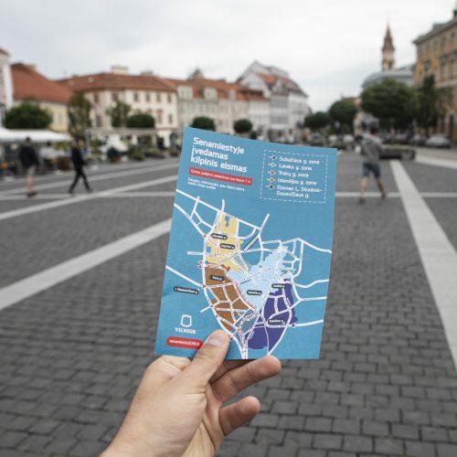 Vilniaus senamiestyje įvestas kilpinis eismas