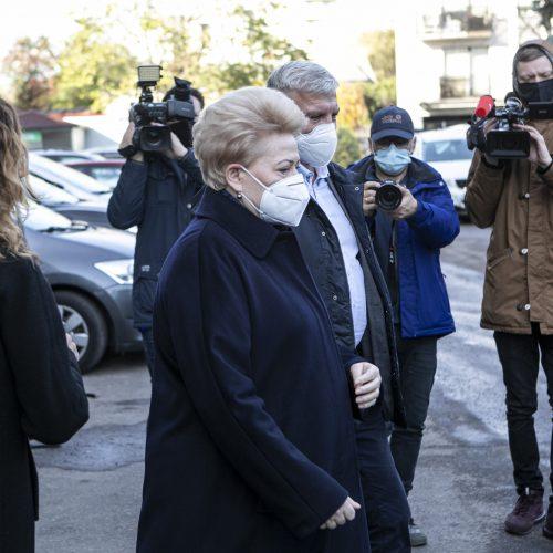 Iš anksto balsavo D. Grybauskaitė  © M. Morkevičiaus / ELTOS, P. Peleckio / Fotobanko nuotr.