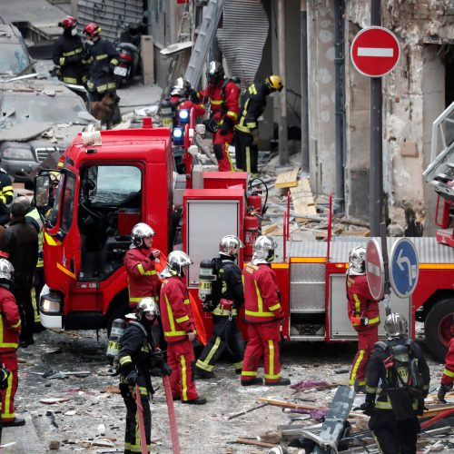Sprogimas Paryžiaus centre  © Scanpix nuotr.
