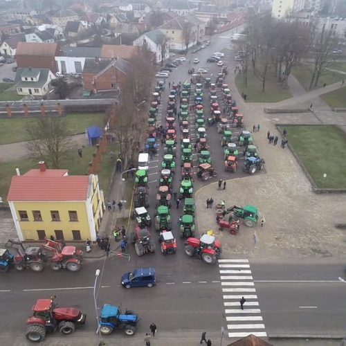 """Lietuvoje – ūkininkų protestas  © """"Facebook"""", M. Morkevičiaus / ELTOS nuotr."""