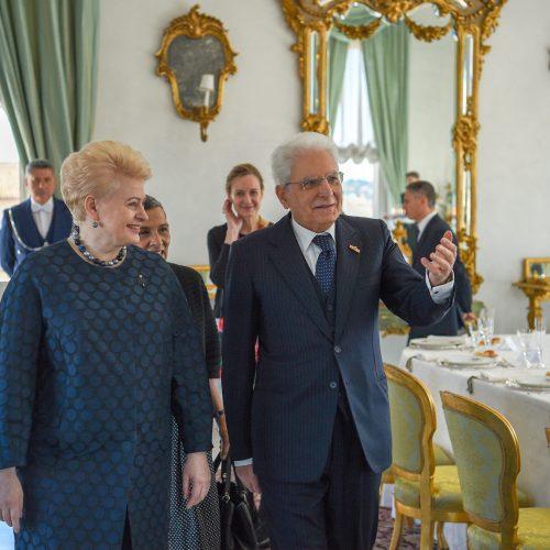 D. Grybauskaitę priėmė Italijos prezidentas  © R. Dačkaus / Prezidentūros nuotr.
