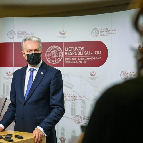 Šalies vadovas G. Nausėda lankosi Seime
