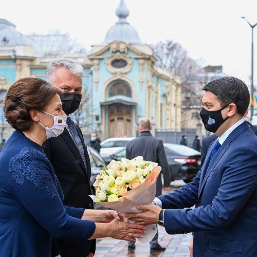 Trečioji G. Nausėdos vizito Ukrainoje diena