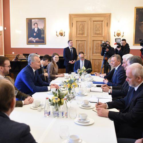 Prezidentas susitiko su Telšių regiono merais