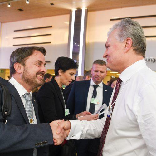 G. Nausėda dalyvauja Pasaulio ekonomikos forume   © R. Dačkaus / Prezidentūros nuotr.
