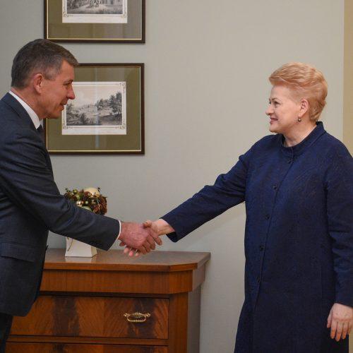 Prezidentūroje – pasitarimas dėl mokytojų streiko  © R. Dačkaus / Prezidentūros nuotr.