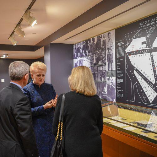 Prezidentė lankosi Judaikos tyrimų institute YIVO  © Roberto Dačkaus / Prezidentūros nuotr.
